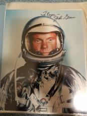 "Astronaut John Glenn Hand Signed Autographed Color Photo ""to Roger"