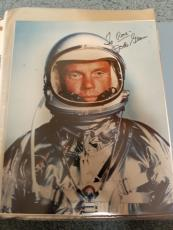 "Astronaut John Glenn Hand Signed Autographed Color Photo ""to Rose"