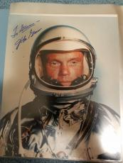 "Astronaut John Glenn Hand Signed Autographed Color Photo ""to Steven"