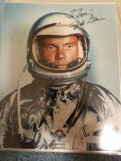 "Astronaut John Glenn Hand Signed Autographed Color Photo ""to Tom"