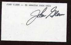 Astronaut John Glenn Signed Index Card Hologram