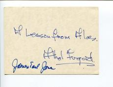 Athol Fugard & James Earl Jones A Lesson From Aloes Rare Signed Autograph