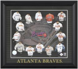 "Atlanta Braves 13"" x 15"" Framed Print Evolution"