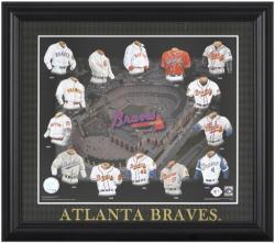 "Atlanta Braves 13"" x 15"" Framed Print Evolution"