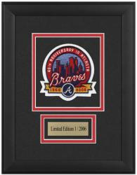 Atlanta Braves 40th Anniversary Framed Emblem with Engraved Plate