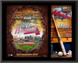 "Atlanta Braves Sublimated 12"" x 15"" Team Logo Plaque"
