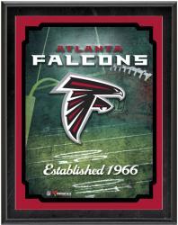"""Atlanta Falcons Team Logo Sublimated 10.5"""" x 13"""" Plaque"""