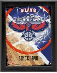 "Atlanta Hawks Team Logo Sublimated 10.5"" x 13"" Plaque"