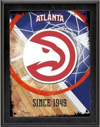 "Atlanta Hawks Secondary Logo Framed 10.5"" x 13"" Sublimated Plaque"