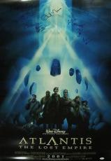 Atlantis The Lost Empire Jsa Loa Signed 27x40 Movie Poster Michael J Fox + Cast