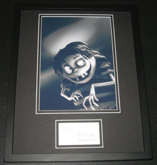 Atticus Shaffer Signed Framed 11x14 Photo Display Frankenweenie