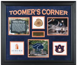 Auburn Tigers Oaks at Toomer's Corner Framed 3-Photograph Collage with Piece of Authentic Oak