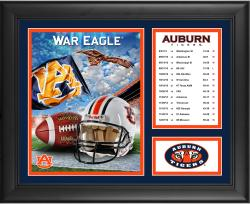 "Auburn Tigers 12-1 Regular Season Framed 15"" x 17"" Collage"