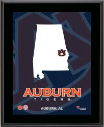 "Auburn Tigers Sublimated 10.5"" x 13"" State Plaque"