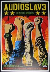 Audioslave (4) Cornell Morello Commerford & Wilk Signed 13X19 Poster PSA #T08874