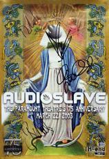 Audioslave (4) Cornell, Morello Signed 13.5x19.25 2003 Concert Poster BAS