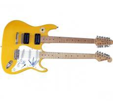 Audioslave Autographed Signed Doubleneck Guitar UACC AFTAL