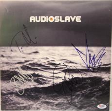 AUDIOSLAVE BAND Chris Cornell +3 Signed Promo Poster Flat PSA/DNA #K38517