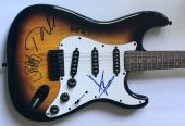 Audioslave Chris Cornell signed Fender guitar tom morello group with beckett loa