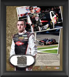 Austin Dillon 2014 Daytona 500 Pole Position Framed 15'' x 17'' Collage with Piece of Track - Limited Edition of 303 - Mounted Memories