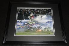 Austin Dillon Daytona Crash NASCAR Framed 8x10 Photo Poster