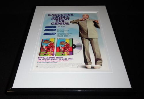 Austin Powers 1999 Framed 11x14 ORIGINAL Advertisement MIke Myers Dr Evil
