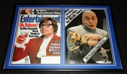 Austin Powers Framed 1999 Entertainment Weekly Cover & Photo Set Mike Myers