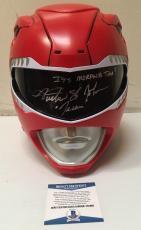 Austin St John Signed Autographed Red Ranger Legacy Helmet BECKETT COA