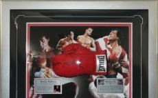 Authentic Hand Signed Sylvester Stallone boxing Glove Display- Rocky IV