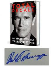 Autographed Arnold Schwarzenegger Hand-Signed 'Total Recall' Book