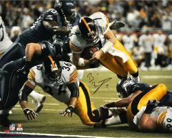 Ben Roethlisberger Pittsburgh Steelers Super Bowl XL 16'' x 20'' Dive Shot Photograph - Mounted Memories