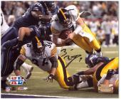 "Ben Roethlisberger Pittsburgh Steelers Super Bowl XL Autographed 8"" x 10"" Dive Shot Photograph"