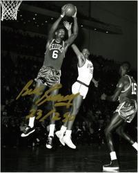 "Bill Russell Boston Celtics Autographed Black & White 8"" x 10"" Photograph"