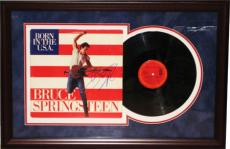 Autographed Bruce Springsteen PSA Signed Framed Album