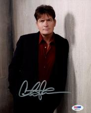Autographed Charlie Sheen Photo 8x10 - PSA/DNA
