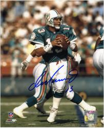 "Dan Marino Miami Dolphins Autographed 8"" x 10"" Passing Photograph"