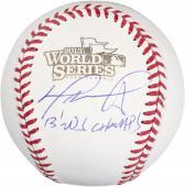 David Ortiz Boston Red Sox 2013 World Series Champions Autographed World Series Logo Baseball with 2013 WS Champs Inscription