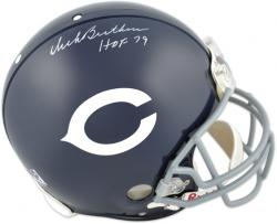 "Chicago Bears Dick Butkus Autographed Riddell Pro Helmet with ""Hall of Fame 79"" Inscription - Mounted Memories"