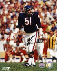 Dick Butkus Chicago Bears Autographed 8'' x 10'' vs. Kansas City Chiefs Photograph with HOF 79 Inscription - Mounted Memories