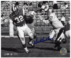 Dick Butkus Chicago Bears Autographed 8'' x 10'' Tackling Jim Brown Photograph - Mounted Memories