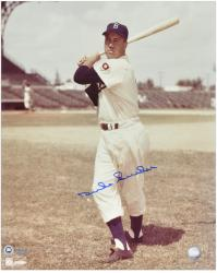 Duke Snider Brooklyn Dodgers Autographed 16'' x 20'' Standing with Bat Photograph - Mounted Memories
