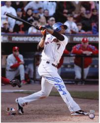 "Jose Reyes New York Mets Autographed 16"" x 20"" Hitting Photograph"