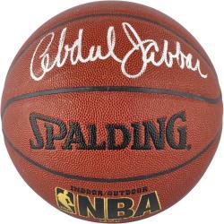 Kareem Abdul-Jabbar Autographed Basketball - Indoor Outdoor Mounted Memories