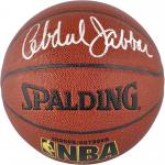 Kareem Abdul-Jabbar Autographed Basketball - Indoor Outdoor Mounted Memories