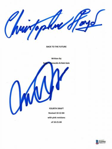 Autographed Michael J Fox Christopher Lloyd Signed Back To The Future Script Bas
