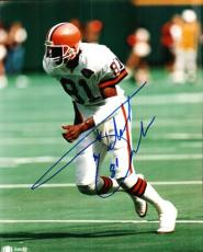 Autographed MICHAEL JACKSON photo Cleveland Browns