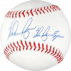 Nolan Ryan Texas Rangers Autographed MLB Baseball with Ryan Express Inscription
