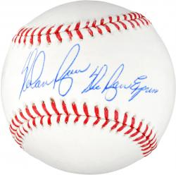 Nolan Ryan Texas Rangers Autographed MLB Baseball with Ryan Express Inscription