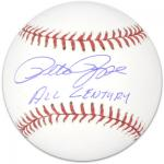 Pete Rose Autographed Baseball with All Century Inscription - Mounted Memories