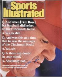 "Pete Rose Cincinnati Reds 1999 Sports Illustrated Cover Autographed 16"" x 20"" Photograph - Mounted Memories"
